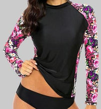 Women' Rash Guard  Long Sleeve  Retro Print UPF 50+