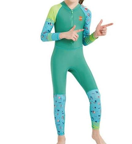 Dive and Sail  UPF 50+ Lycra Junior One piece Long Sleeve Swimsuit/Rash Guard