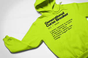Generational Curse Breaker Neon Hoodie - My Business His Glory