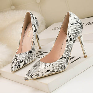 Slip-On Pointed Toe Heels