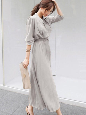Pleated Fashion Summer Dress