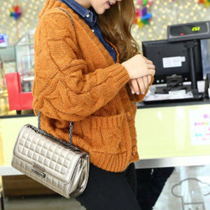 Plaid Rectangle Crossbody Bags
