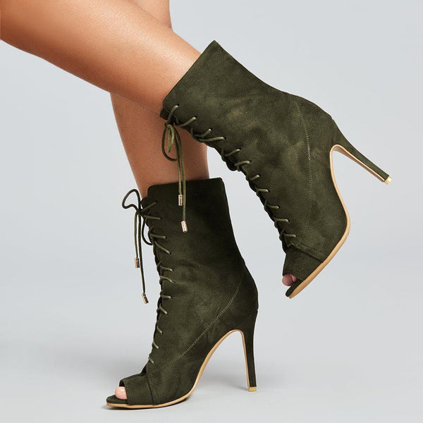 Peep Toe Stiletto Boot