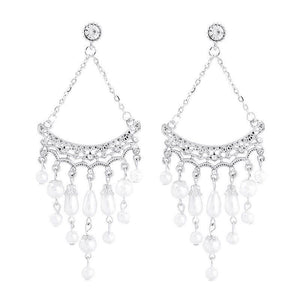 Hollow Out Alloy Sweet Wedding Earrings