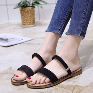 Open Toe Casual Plain Sandals