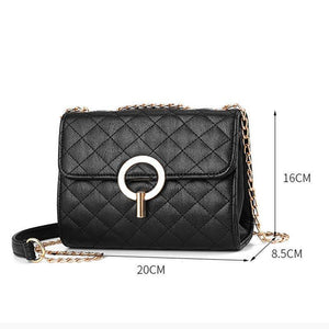 Lock Plain Crossbody Bags