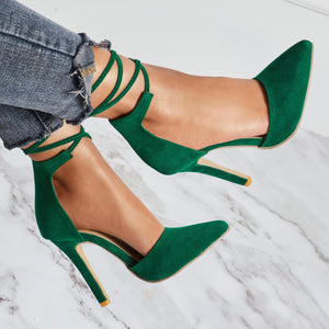 Strap Pointed Thin Heels