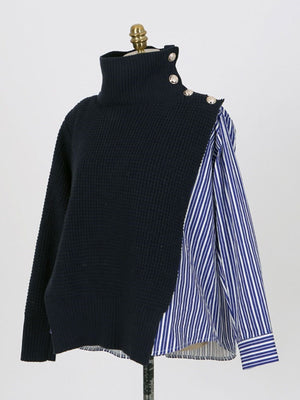 Patchwork Loose Fall Sweater