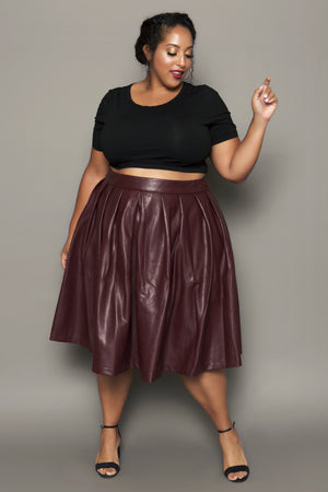 Quill Faux Leather Skirt