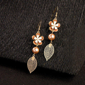 Alloy Sweet Floral Gift Earrings