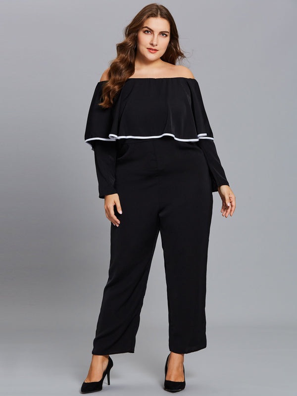 Falbala Wide Legs Slim Jumpsuit