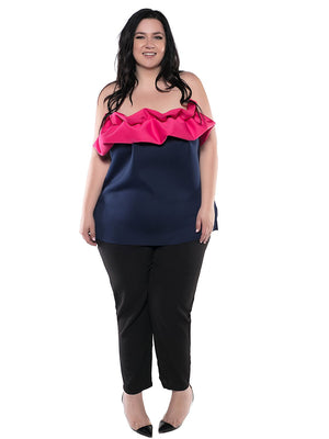 Vaughn Ruffle Strapless Top