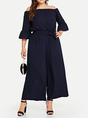 Ankle Length Wide Legs Jumpsuit