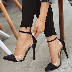 Buckle Pointed Thin Shoes