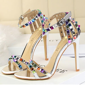 Buckle Heel Casual Sandals