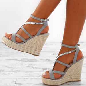 Rhinestone Casual Sandals