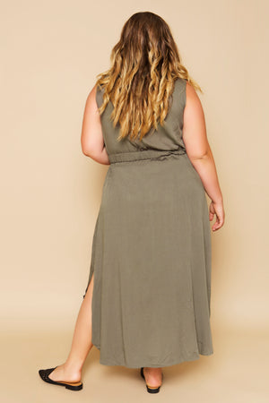 plus size khaki dress