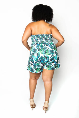 palm leaf romper