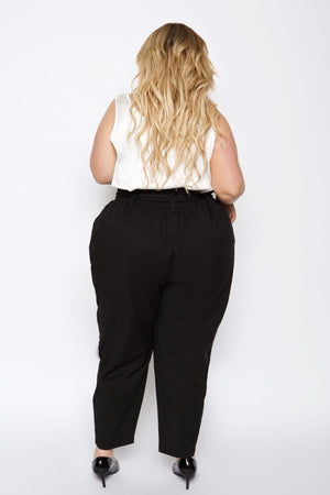 plus size paperbag pants