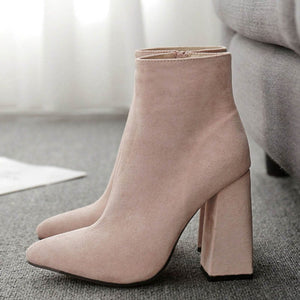 Side Zipper Stiletto Boots