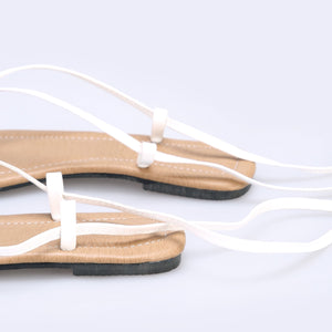 Block Heel Lace-Up Sandals