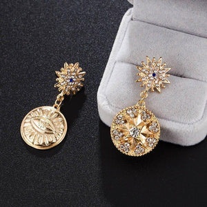 Diamante Vintage Alloy Party Earrings