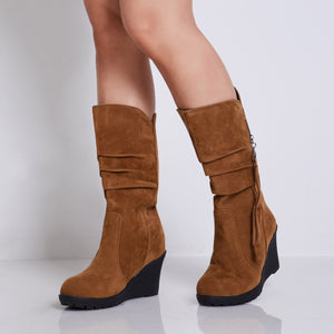 Side Zipper Casual Boots