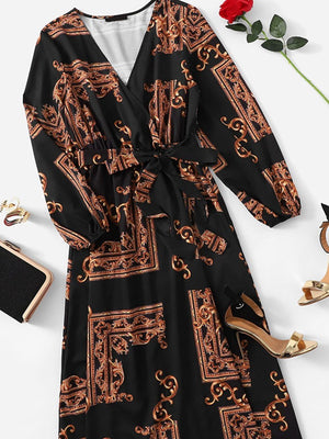 Nine Points Sleeve Western Dress