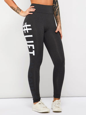 Letter Casual Print Leggings