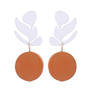 Wood Prom Earrings