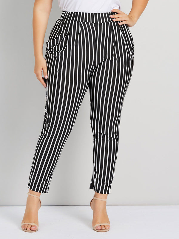 Stripe Harem Casual Pants