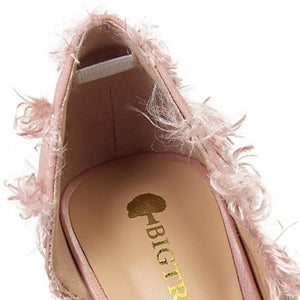 Slip-On Stiletto Furry Shoes