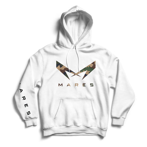 "WHITE HOODIE WITH LOGO ""M"" CAMOUFLAGE"