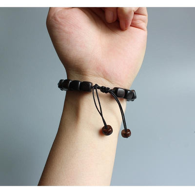 Black Red Wood - Armband - LAMIVA.de