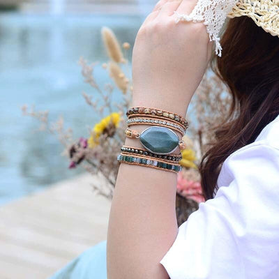 Green Power Boho - Armband - LAMIVA.de