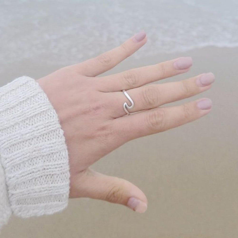 """Happy Wave"" - Silber Ring - LAMIVA.de"