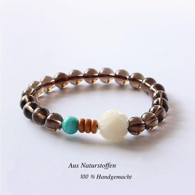 Smoky White Rose - Armband - LAMIVA.de