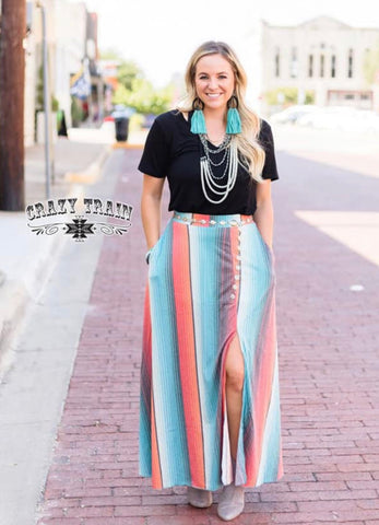 Thunderstorm Skirt in Serape