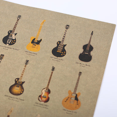 World Guitars Poster