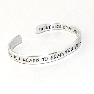 Frederick Douglass Bracelet - Once You Learn To Read You Will Be Forever Free