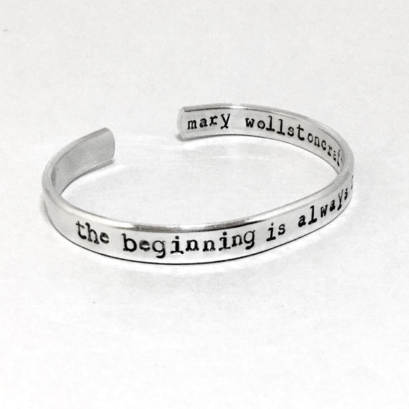 Mary Wollstoncraft Bracelet - The Beginning is Always Today