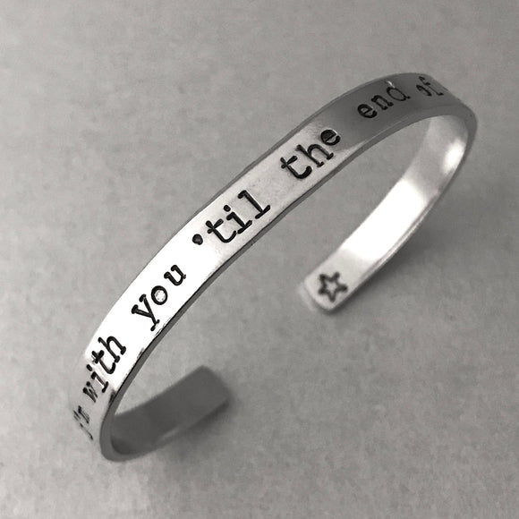 Captain America Inspired - I'm With You Till The End of the Line - Aluminum Bracelet