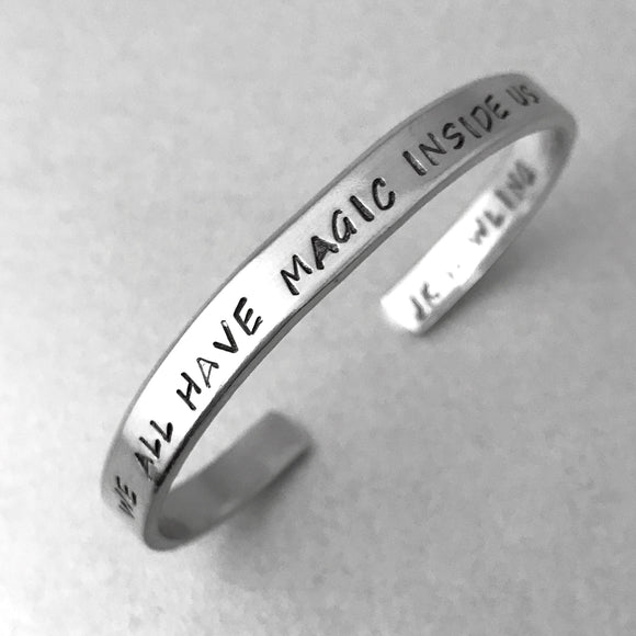 JK Rowling Bracelet - We All Have Magic Inside Us