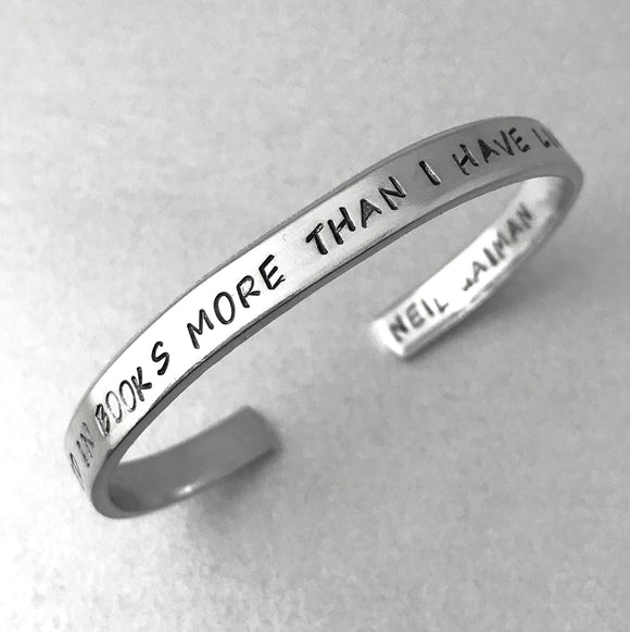 Neil Gaiman Bracelet - I Have Lived In Books