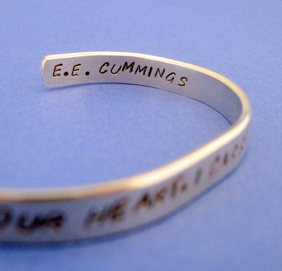 e.e. cummings Bracelet - I Carry Your Heart
