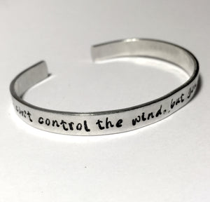 You Can't Control the Wind - Inspirational Bracelet