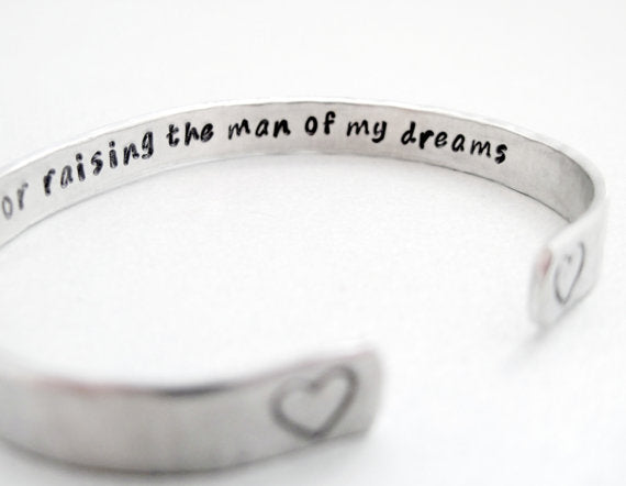Mother In Law Bracelet - Thank You For Raising The Man Of My Dreams