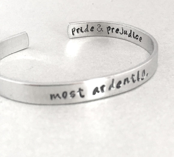 Jane Austen Bracelet - Most Ardently