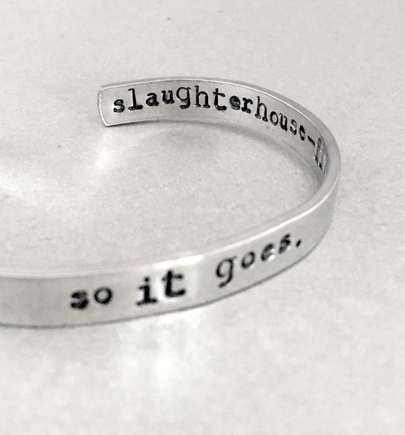 Kurt Vonnegut Bracelet - So It Goes