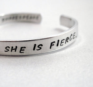 Shakespeare Bracelet - Though She Be But Little, She Is Fierce
